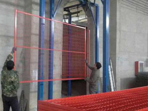 Canada PVC Painting Powered Coated Welded Wire Mesh Temporary Fencing
